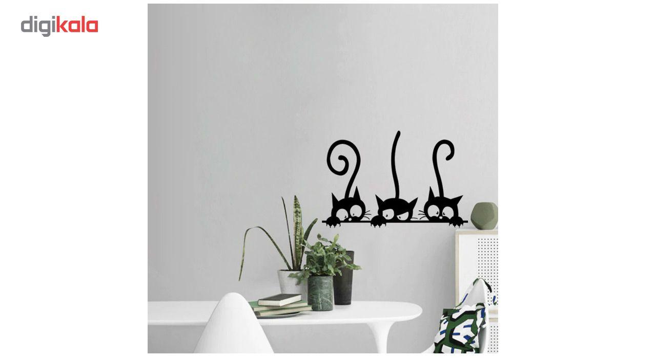 استیکر دیواری دکوگراف طرح گربه main 1 2