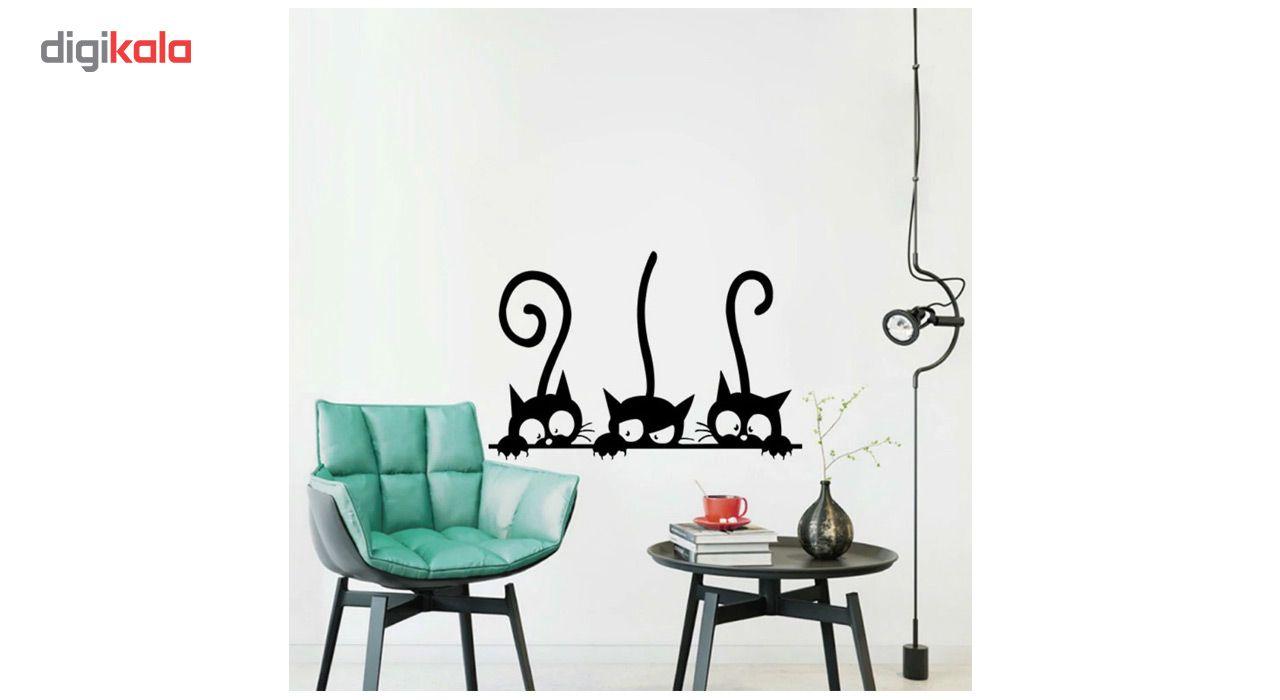 استیکر دیواری دکوگراف طرح گربه main 1 3