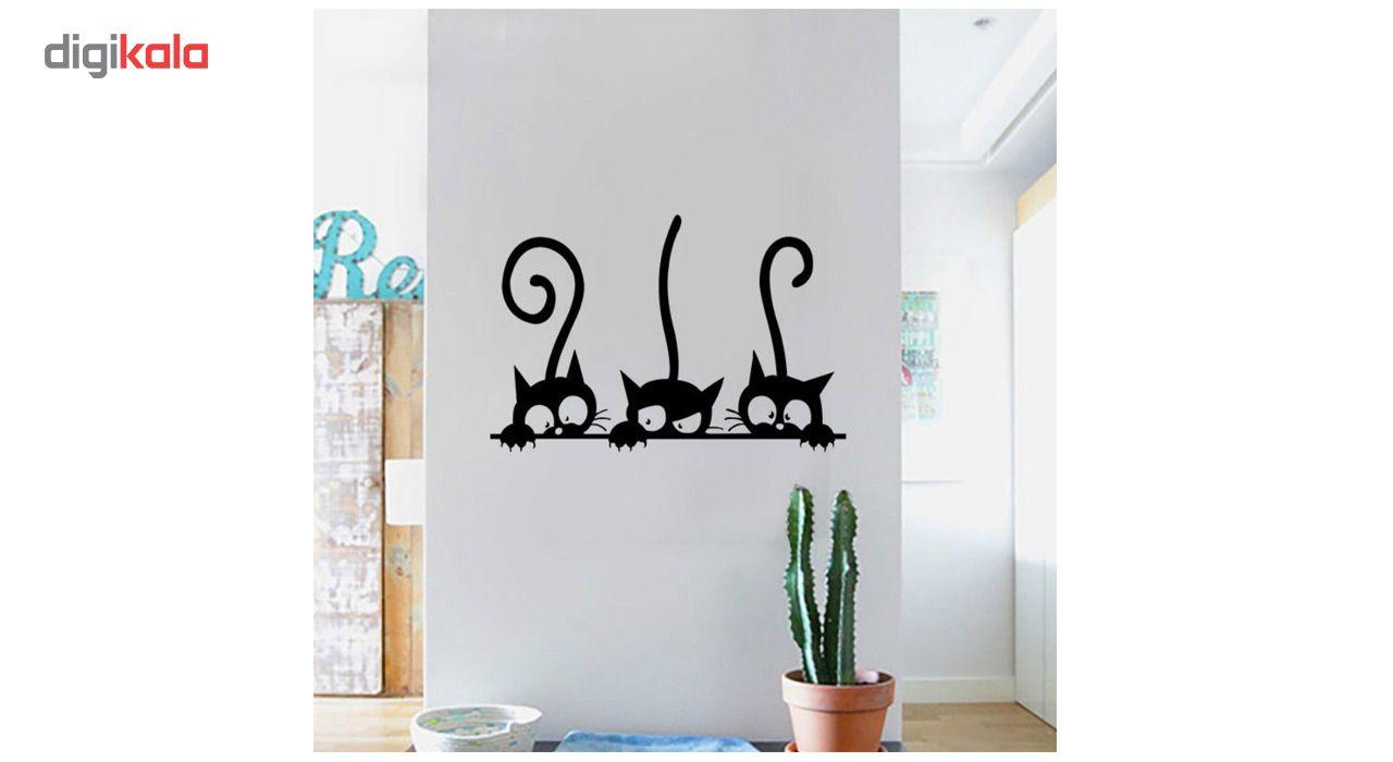 استیکر دیواری دکوگراف طرح گربه main 1 5