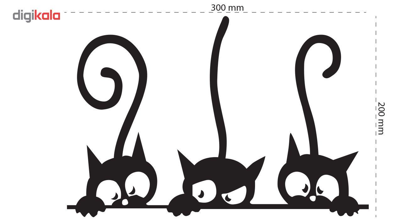 استیکر دیواری دکوگراف طرح گربه main 1 6