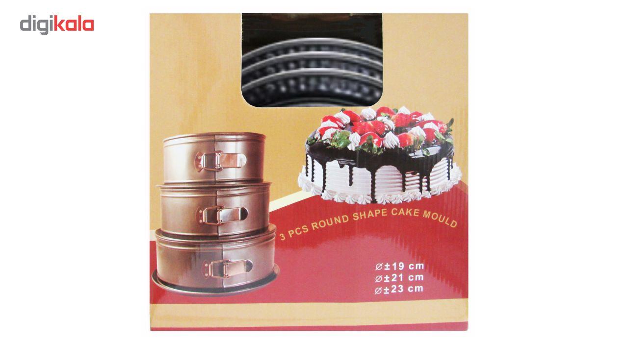 قالب کیک کمربندی ورق ضخیم مدل Round Deep Cake  مجموعه 3 عددی به همراه جا کلیدی طرح برج ایفل هدیه main 1 1