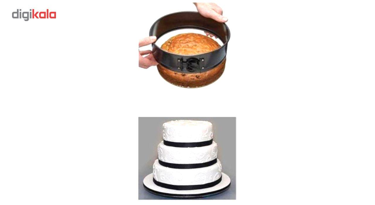 قالب کیک کمربندی ورق ضخیم مدل Round Deep Cake  مجموعه 3 عددی به همراه جا کلیدی طرح برج ایفل هدیه main 1 5