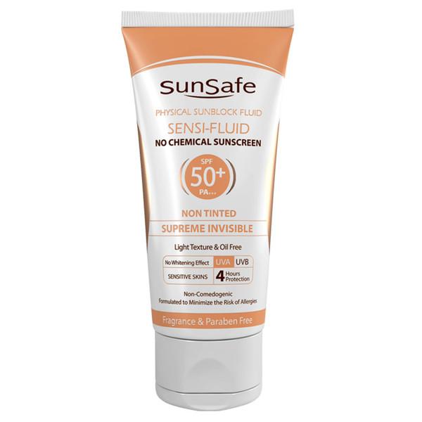 کرم ضد آفتاب سان سیف مدل سنسی فلوئید +SPF 50 حجم 50 میلی لیتر