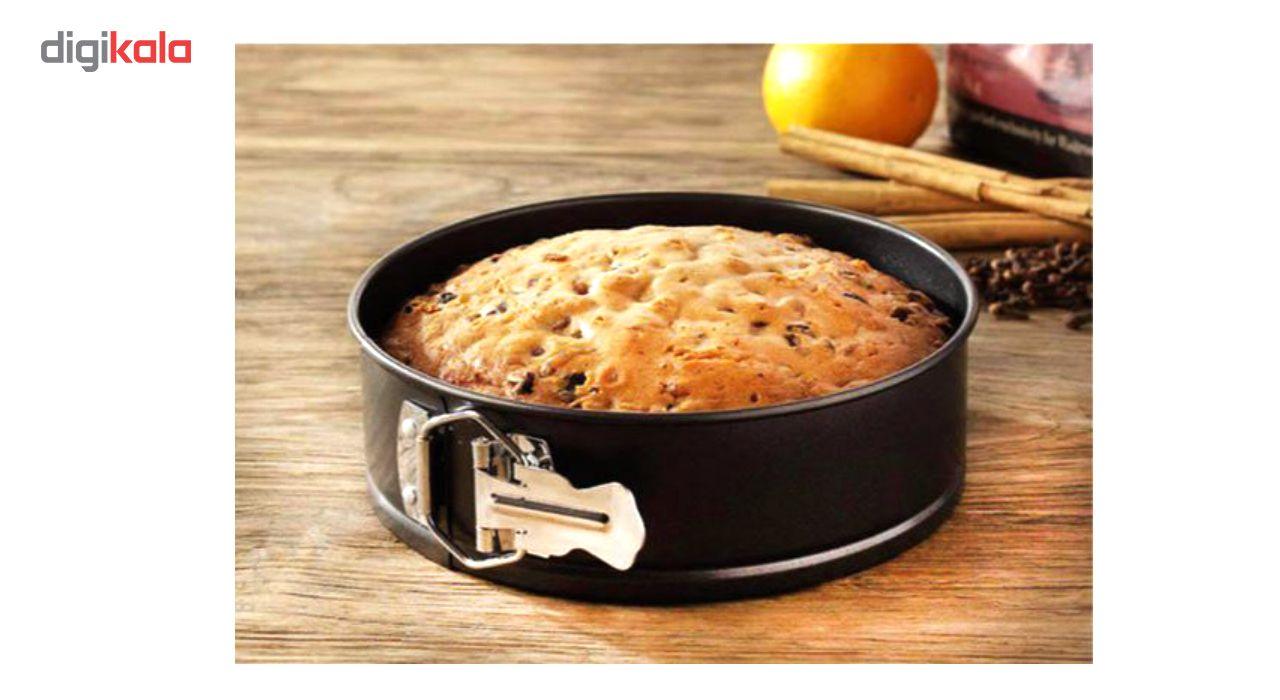 قالب کیک کمربندی ورق ضخیم مدل Round Deep Cake  مجموعه 3 عددی به همراه جا کلیدی طرح برج ایفل هدیه main 1 6