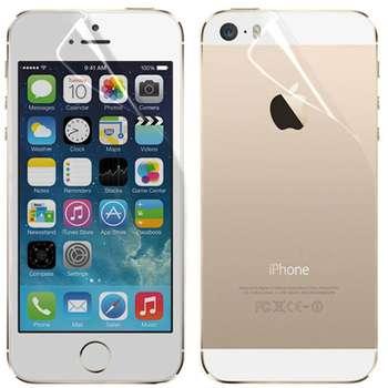 محافظ صفحه نمایش و پشت مدل Clear 2in1 مناسب برای گوشی موبایل اپل آیفون SE / 5 / 5s