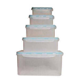 ست 5 تکه ظرف نگهدارنده مدل سامان شفاف کد p103