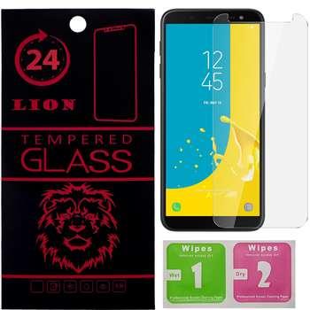 محافظ صفحه نمایش شیشه ای لاین مدل 2.5D مناسب برای گوشی موبایل سامسونگ Galaxy J6 2018