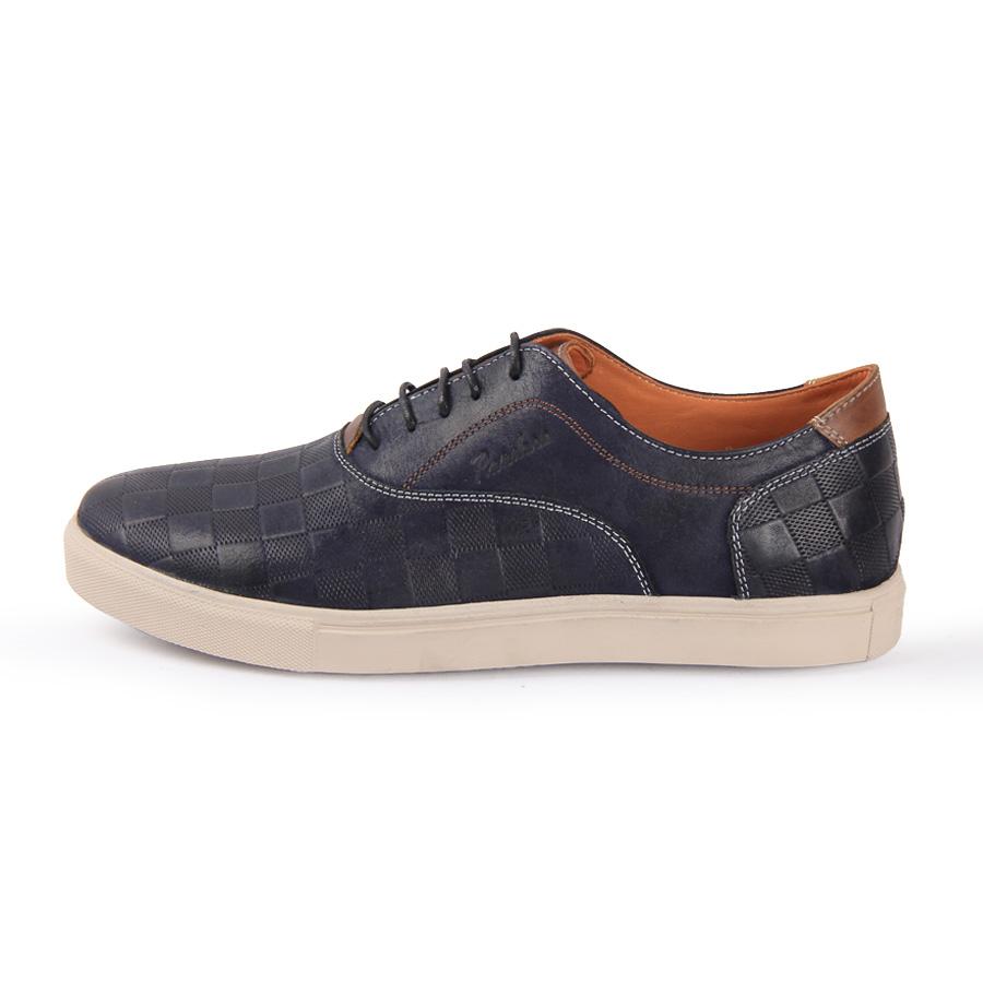 کفش مردانه چرم طبیعی پاندورا مدل m2502 سرمه ای