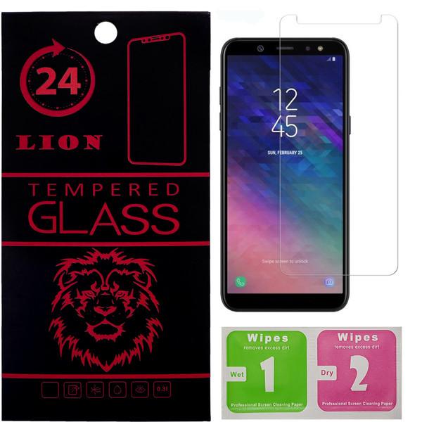 محافظ صفحه نمایش شیشه ای لاین مدل 2.5D مناسب برای گوشی سامسونگ Galaxy A6 2018