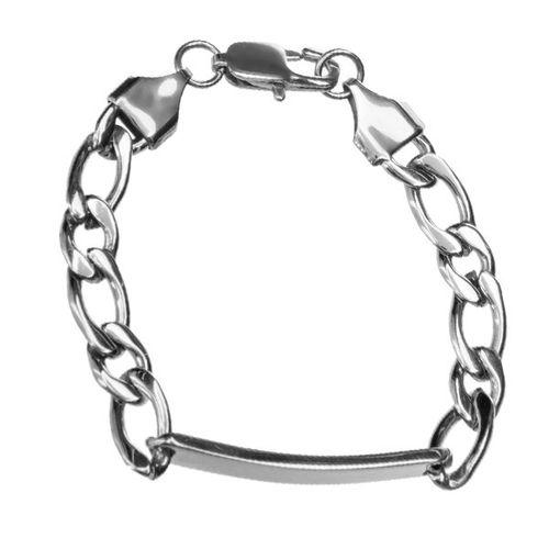 دستبند زنجیری پلاک دار جی دبلیو ال مدل BB-456