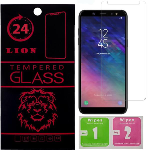 محافظ صفحه نمایش شیشه ای لاین مدل 2.5D مناسب برای گوشی موبایل سامسونگ Galaxy A6 Plus 2018
