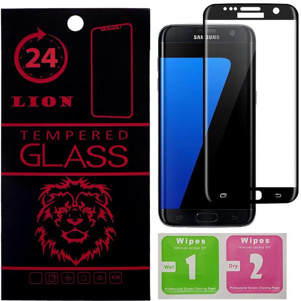 محافظ صفحه نمایش شیشه ای لاین مدل 3D Full Cover مناسب برای گوشی موبایل سامسونگ Galaxy S7 Edge