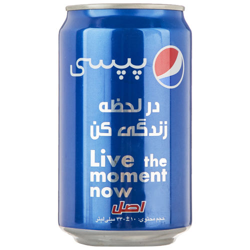 نوشابه گاز دار با طعم کولا پپسی مقدار 0.33 لیتر