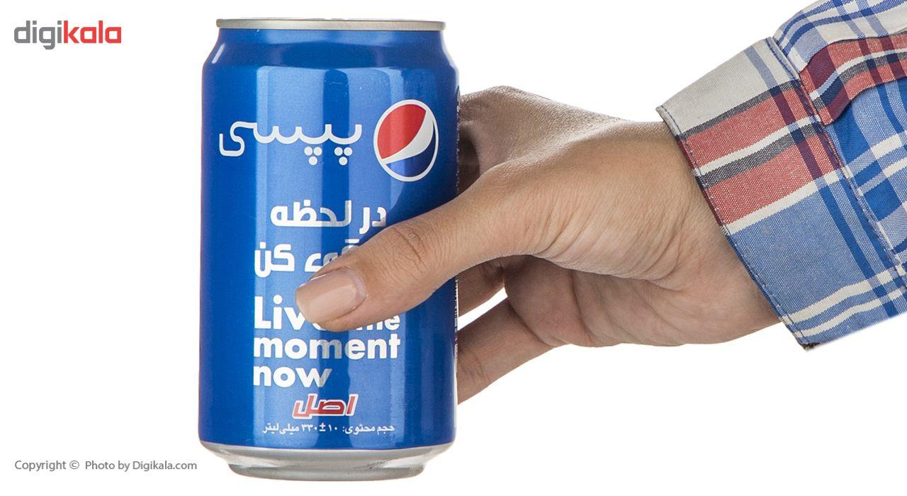 نوشابه گاز دار با طعم کولا پپسی - 330 میلی لیتر main 1 4