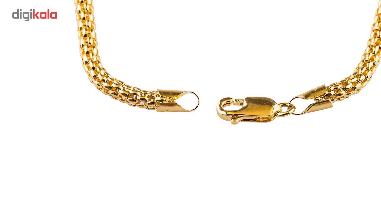 دستبند طلا 18 عیار گالری طلا باران مدل طنابی استوانه ای