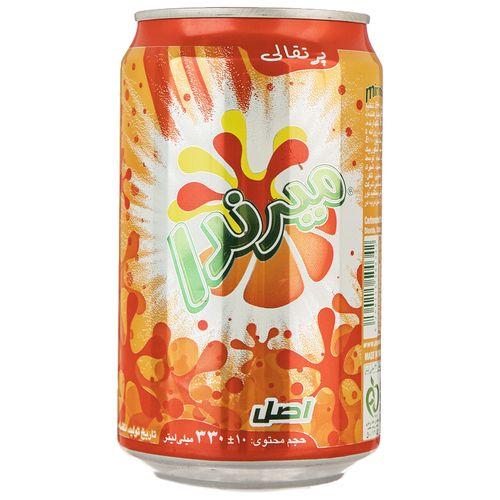 نوشابه گاز دار با طعم پرتقالی میرندا مقدار 0.33 لیتر