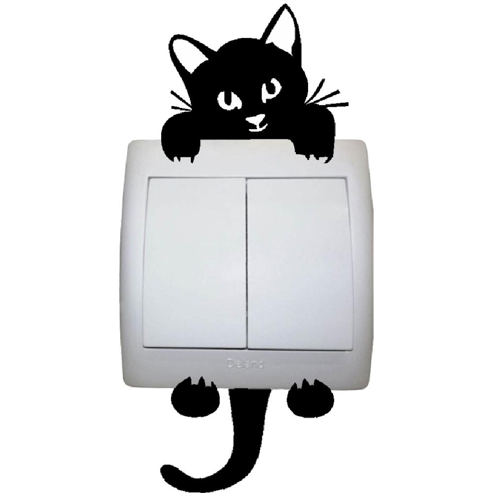 استیکر فراگراف کلید و پریز FG طرح گربه کد 047