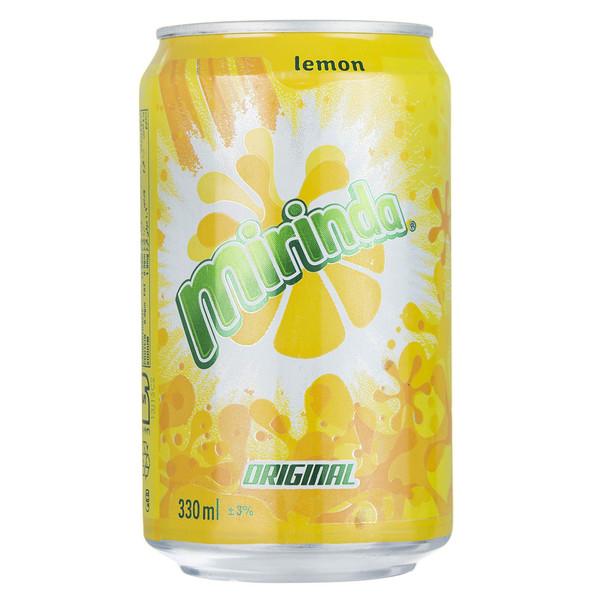 نوشابه گاز دار با طعم لیمو میرندا - 330 میلی لیتر