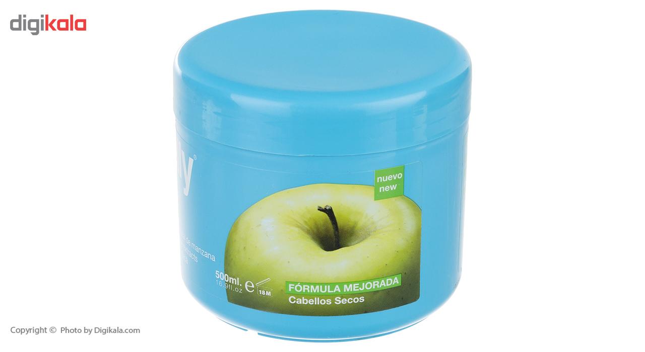 ماسک مو نلی مدل Green Apple حجم 500 میلی لیتر  Nelly Green Apple Hair Mask 500ml