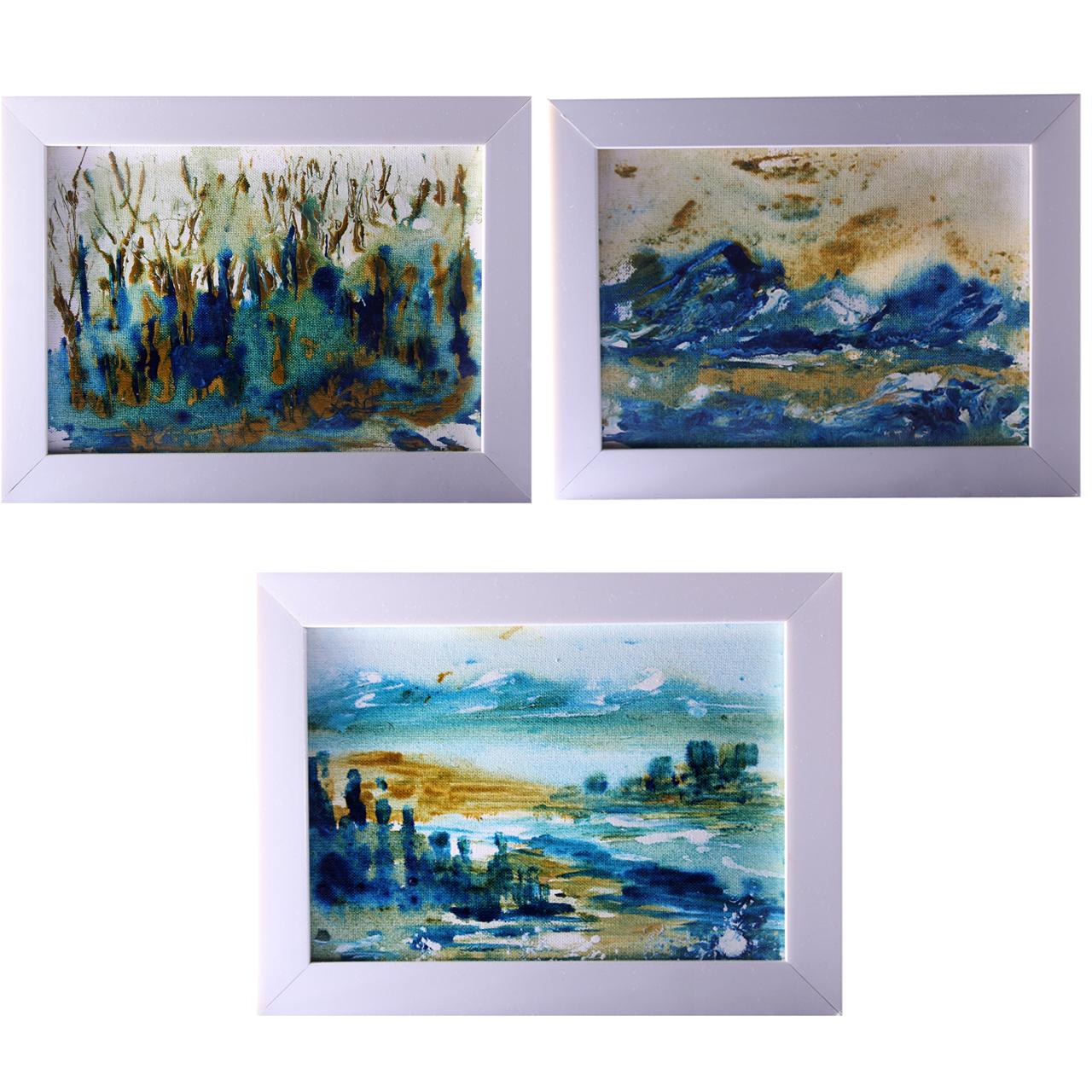 تابلو نقاشی سه تکه فرزان گالری مدل F003