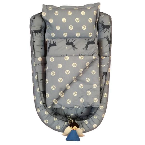 سرویس 3 تکه خواب نوزادی تاپ دوزانی مدل تیگو
