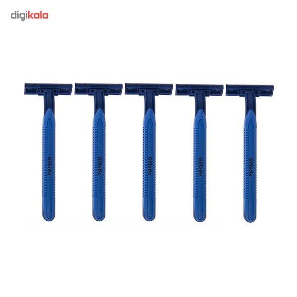 خود تراش 5 عددی ژیلت مدل Blue 2 Plus main 1 2