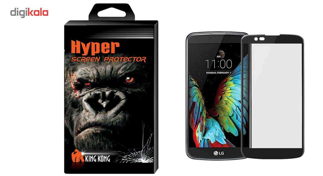 محافظ صفحه نمایش شیشه ای کینگ کونگ مدل Hyper Fullcover مناسب برای گوشی ال جی K10 2016 main 1 1