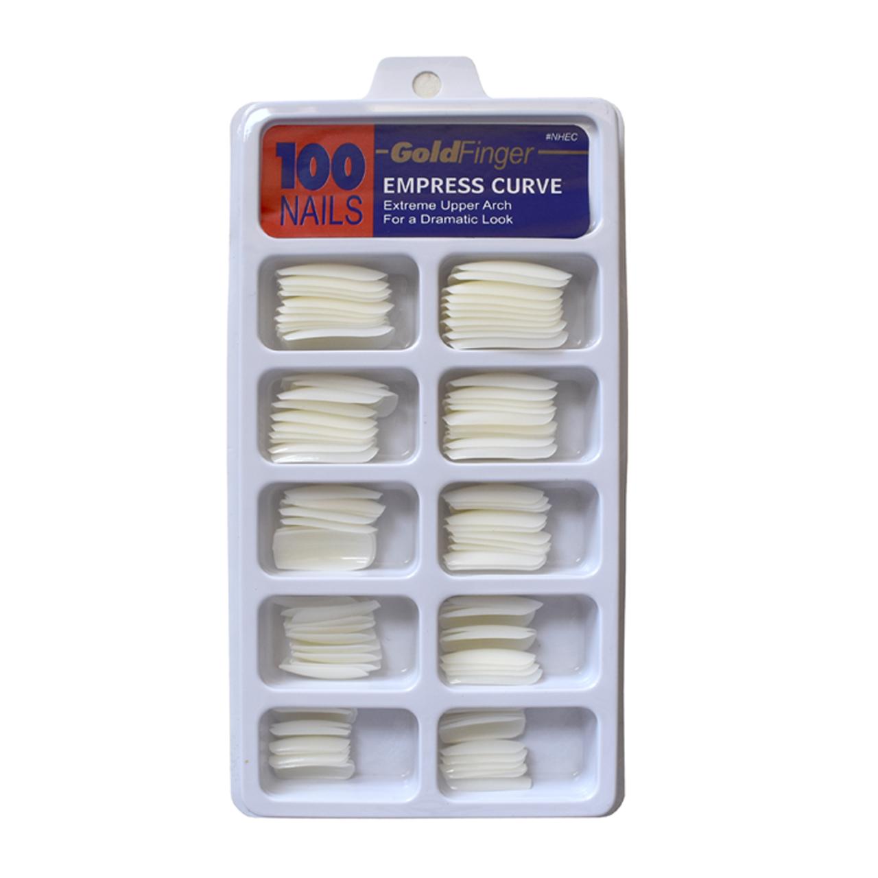 ناخن مصنوعی گلد فینگر مدل سر تخت بسته 100 عددی