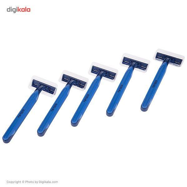 خود تراش 5 عددی ژیلت مدل Blue 2 Plus main 1 3