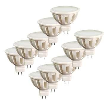 لامپ ال ای دی 3 وات اپتونیکا مدل هالوژن پایه GU5.3 بسته 10 عددی