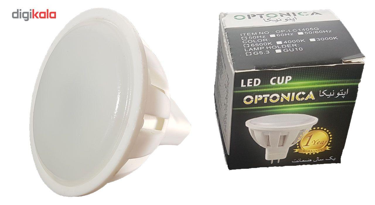 لامپ ال ای دی 3 وات اپتونیکا مدل هالوژن پایه GU5.3 بسته 10 عددی main 1 2