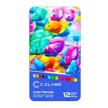 مدادرنگی 12 رنگ سی کلاس کد 04