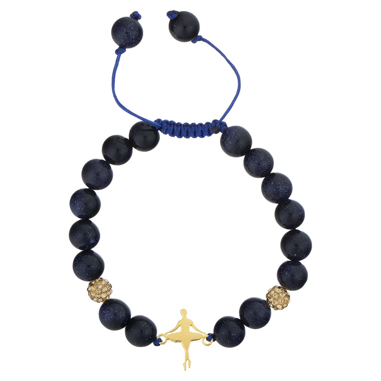 قیمت دستبند طلا 18 عیار جواهری پرن مدل بالرین DP009