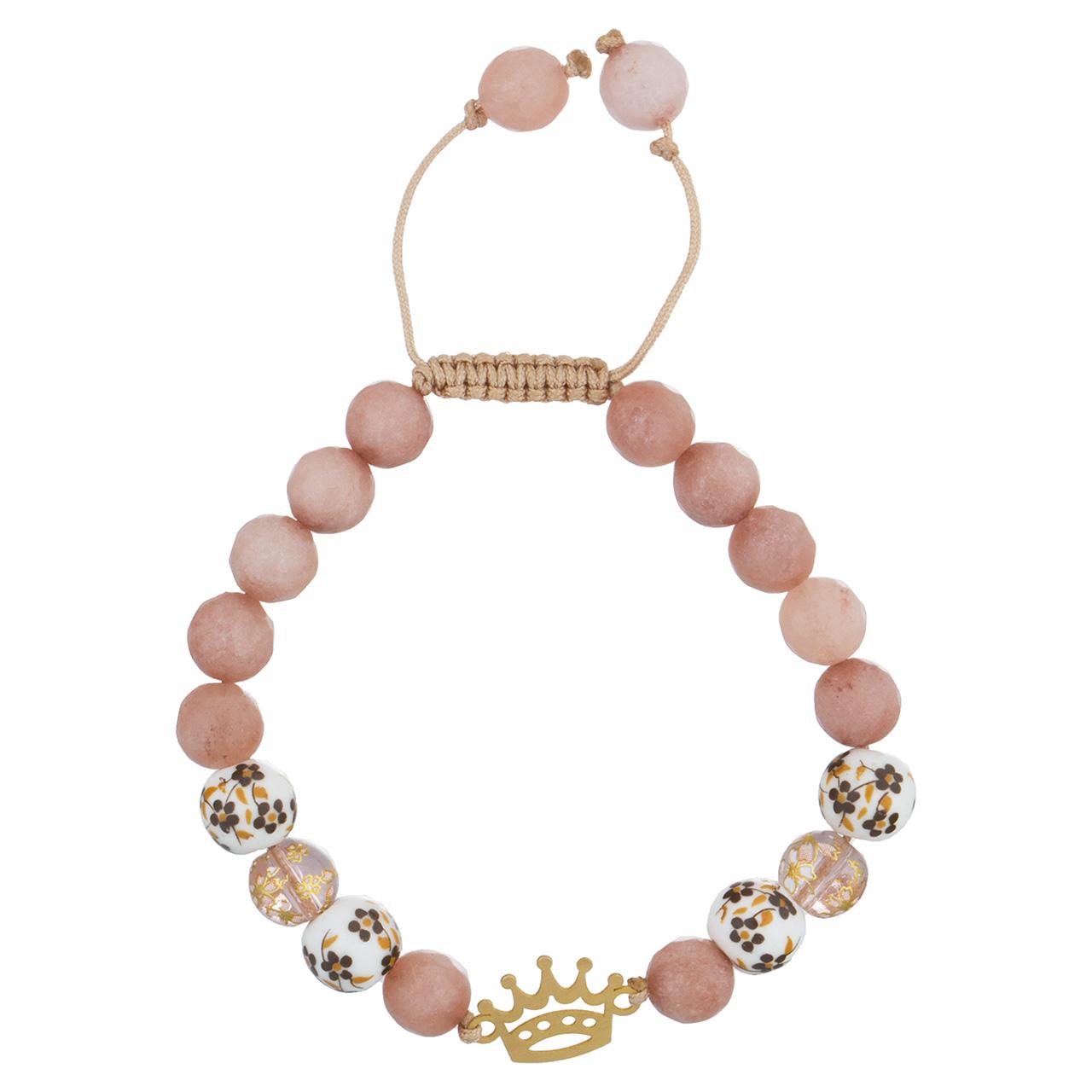 قیمت دستبند طلا 18 عیار جواهری پرن مدل تاج DP005