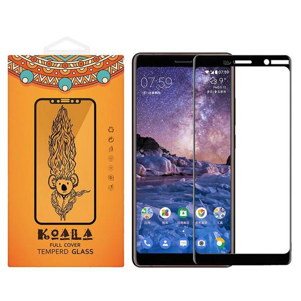 محافظ صفحه نمایش شیشه ای کوالا مدل Full Cover مناسب برای گوشی موبایل Nokia 7 2018 Plus
