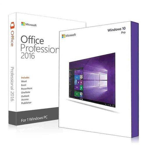 نرم افزار مایکروسافت ویندوز 10 نسخه پرو به همراه مایکروسافت آفیس پرو پلاس 2016 - لایسنس OEM