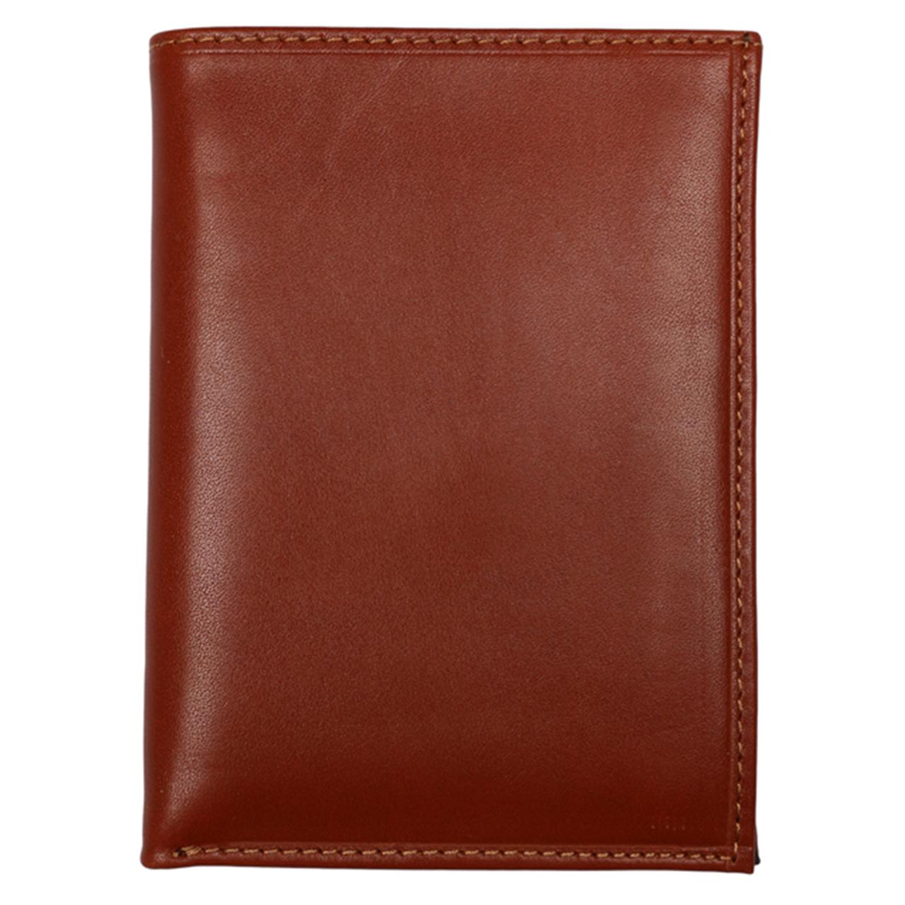 کیف پول نیم کتی رویال چرم کدM6-Brown