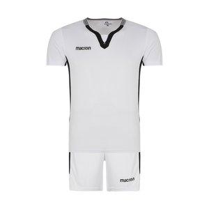 ست تی شرت و شلوارک ورزشی مردانه مکرون مدل کاناپوس رنگ سفید