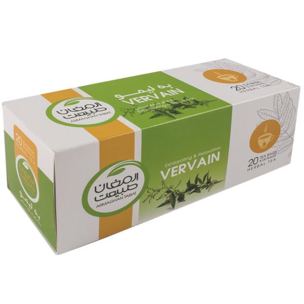 بسته دمنوش گیاهی ارمغان طبیعت  مدل چایبه لیمو بسته 20 عددی