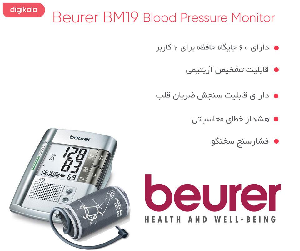 فشارسنج دیجیتالی بیورر مدل BM19 infographic