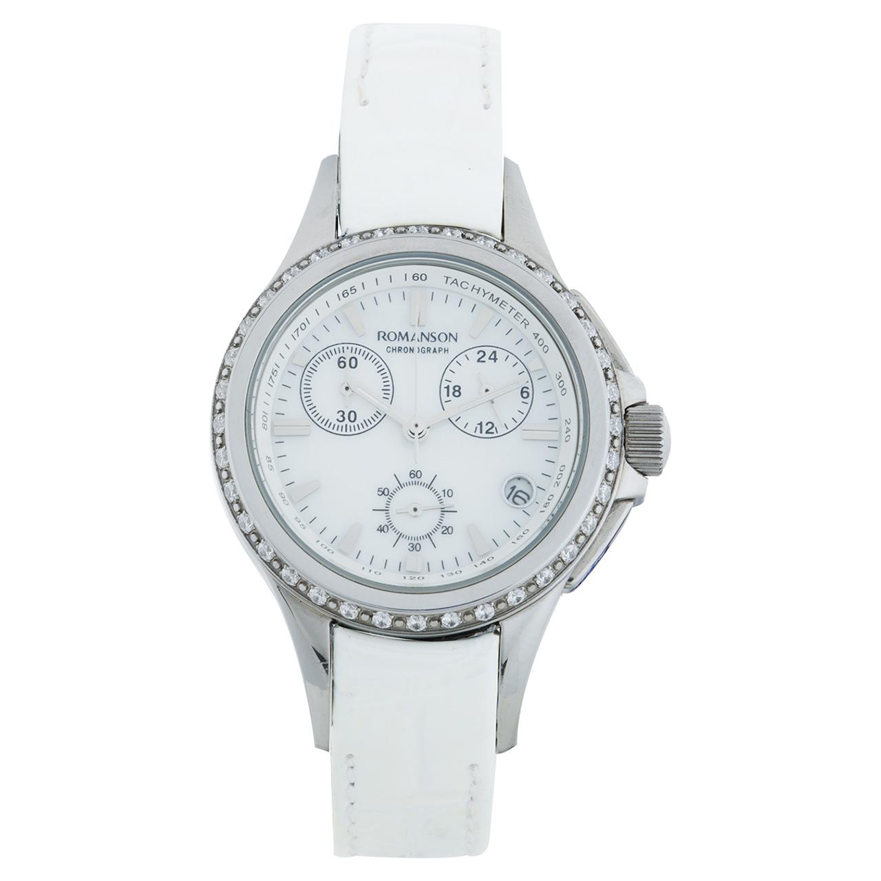 ساعت مچی عقربه ای زنانه رومانسون مدل RL8275QL1WM12W 45