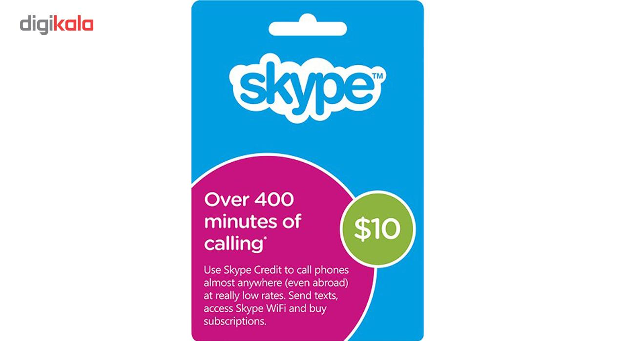 خرید اینترنتی گیفت کارت 10 دلاری اسکایپ اورجینال