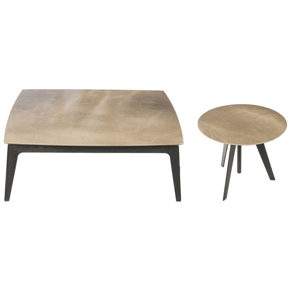 جلو مبلی ایتال فوم مدل سنگی به همراه میز عسلی