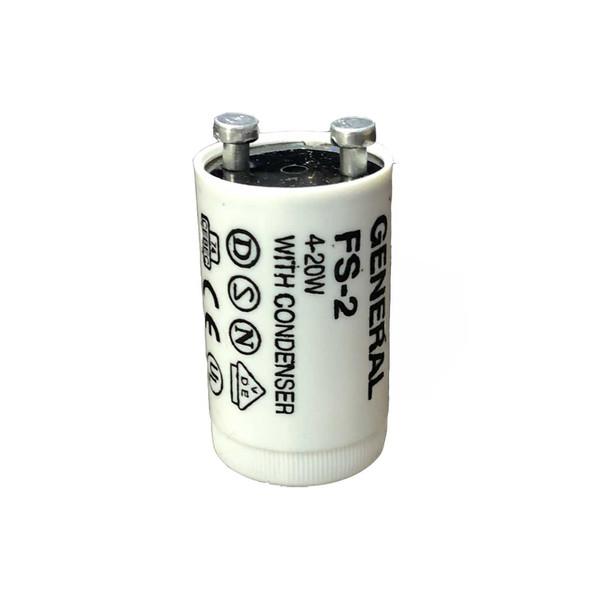 استارت لامپ مهتابی 20 وات جنرال مدل FS-2 بسته 2 عددی