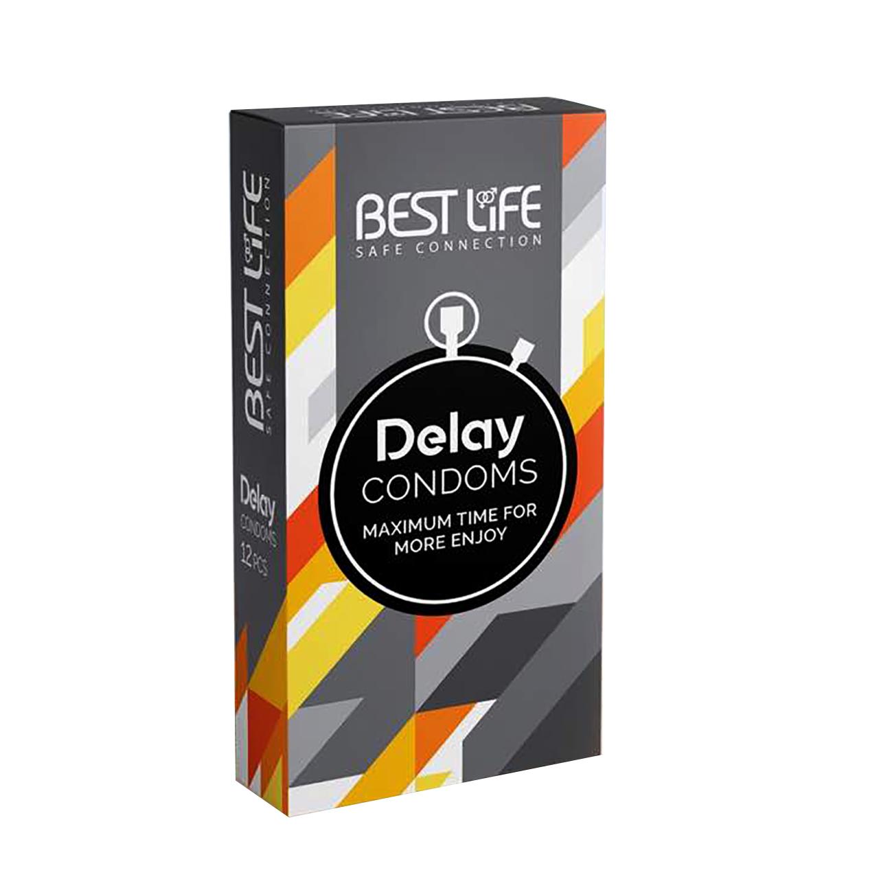 عکس کاندوم بست لایف مدل Delay بسته 12 عددی