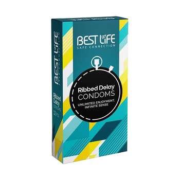 کاندوم بست لایف مدل Ribbed Dealy بسته 12 عددی