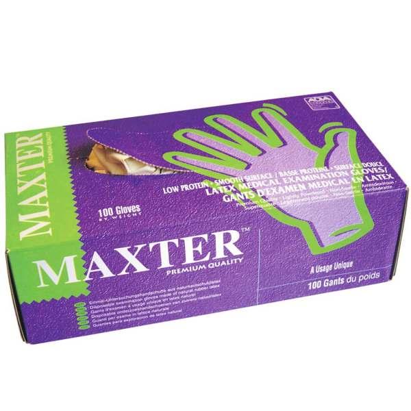 دستکش مکستر مدل لاتکس بسته 100 عددی