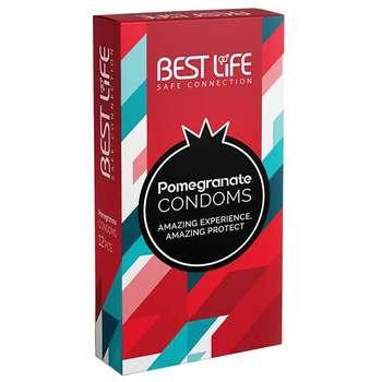 کاندوم بست لایف مدلPomegranate بسته 12 عددی