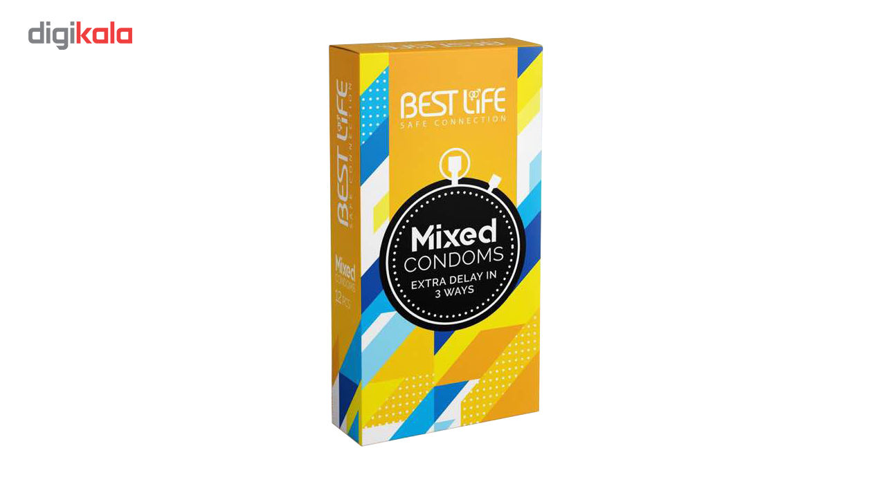 کاندوم بست لایف مدل Mixed بسته 12 عددی main 1 1