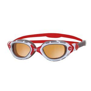 عینک شنا زاگز مدل Predator Flex Polarized Ultra - White/Red